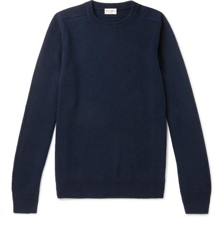 Saint Laurent - Slim-Fit Cashmere Sweater - Men - Midnight blue