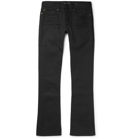 Saint Laurent - Slim-Fit Flared Stretch-Denim Jeans - Men - Black
