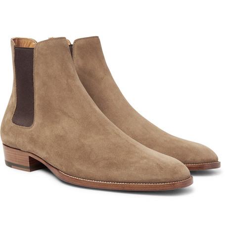Saint Laurent - Suede Chelsea Boots - Men - Brown