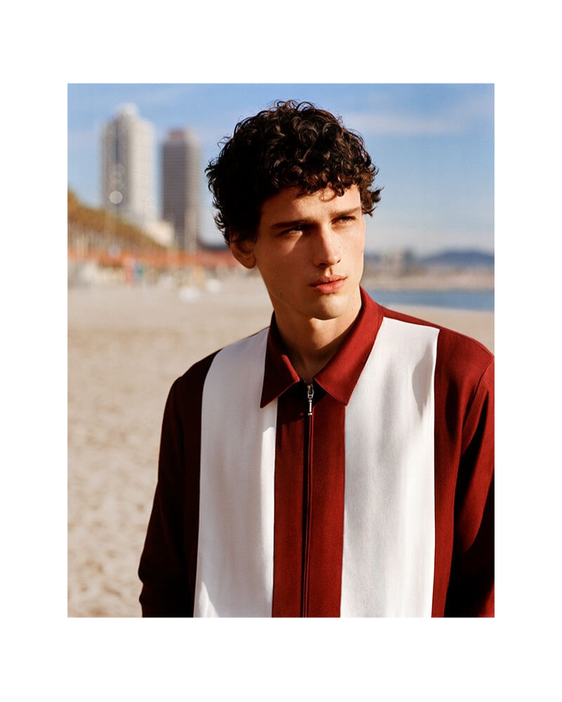 Sandro enlists Simon Nessman as the star of its spring-summer 2019 campaign.