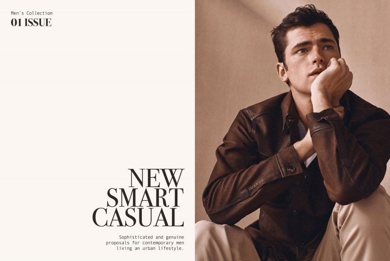 "Sean O'Pry embraces ""new smart casual"" style for Massimo Dutti's most recent men's editorial."