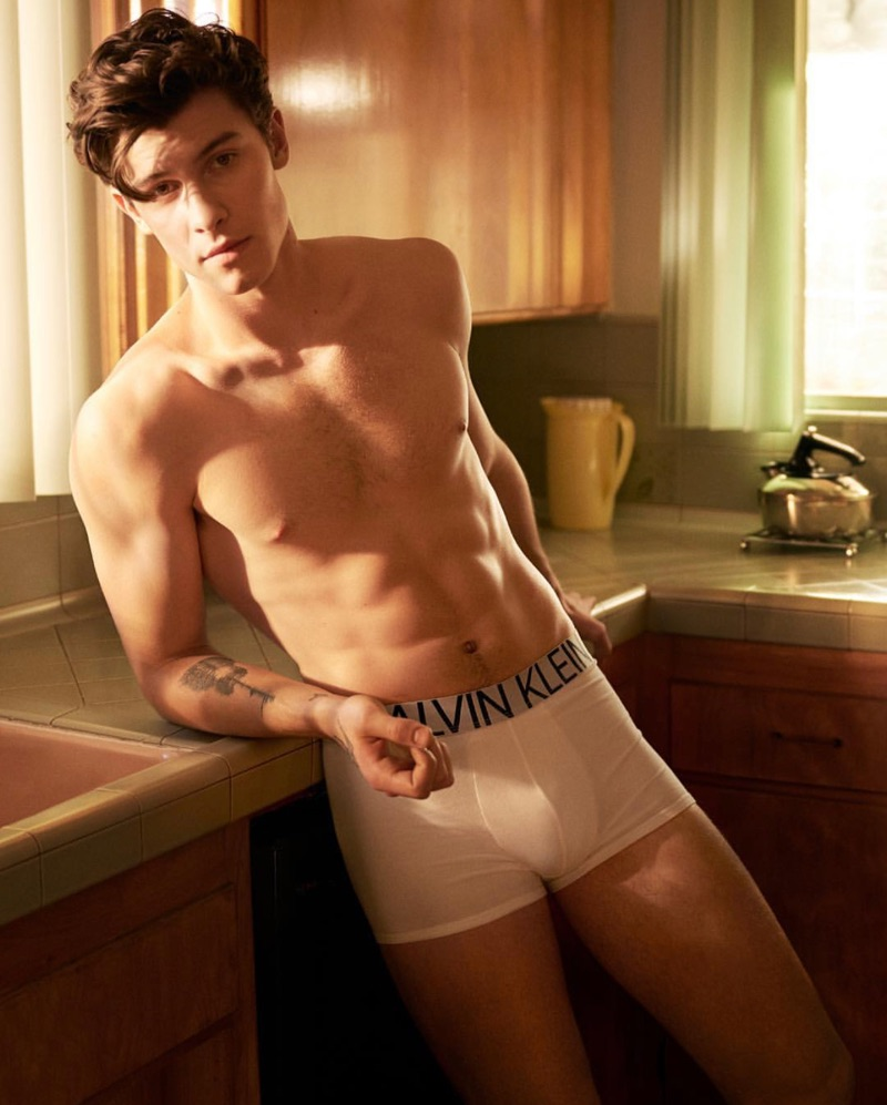 Shawn Mendes stars in the spring-summer 2019 campaign of Calvin Klein Underwear.