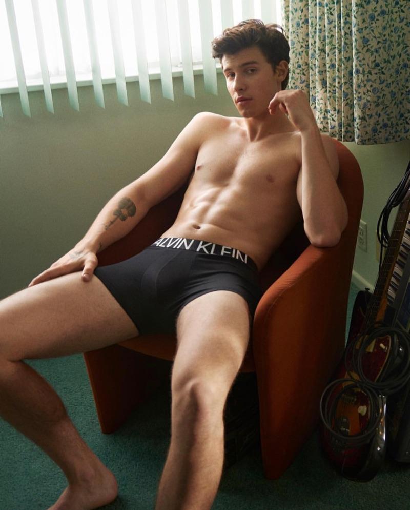 Singer Shawn Mendes fronts Calvin Klein Underwear's spring-summer 2019 campaign.