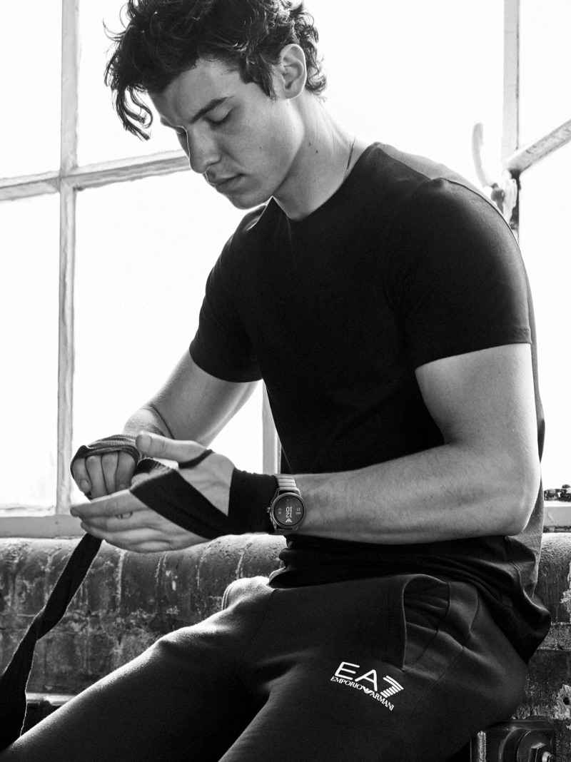 Shawn Mendes stars in Emporio Armani's spring-summer 2019 watches campaign.