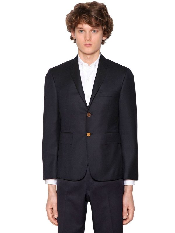 Single Breasted 120s Wool Twill Jacket