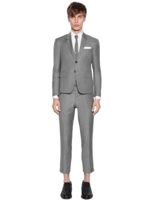 Skinny Fit Light Wool Gabardine Suit