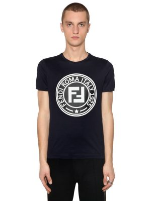 Slim Rubber Logo Patch Jersey T-shirt