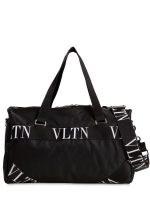 Small Vltn Logo Nylon Boston Bag