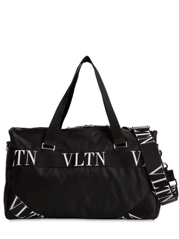 Small Vltn Logo Nylon Boston Bag