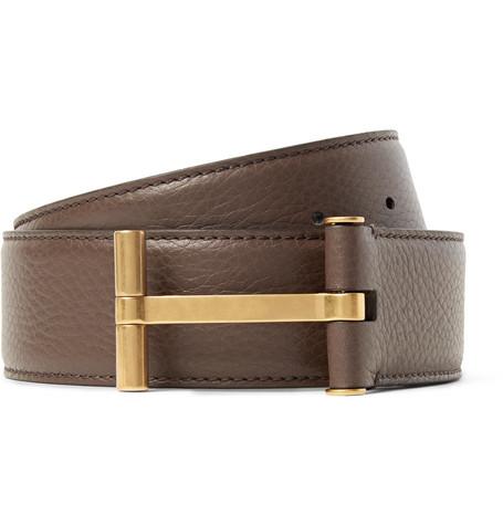 TOM FORD - 4cm Brown Full-Grain Leather Belt - Men - Brown