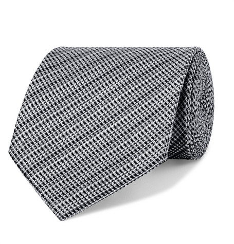 TOM FORD - 8cm Woven Silk and Linen-Blend Tie - Men - Gray
