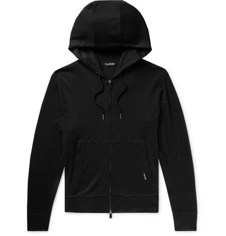 TOM FORD - Cashmere Zip-Up Hoodie - Men - Black