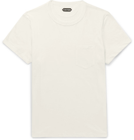 TOM FORD - Cotton-Jersey T-Shirt - Men - White