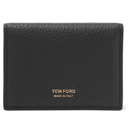 TOM FORD - Full-Grain Leather Bifold Cardholder - Men - Black