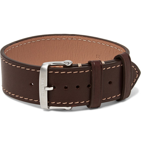 TOM FORD - Leather Watch Strap - Men - Brown