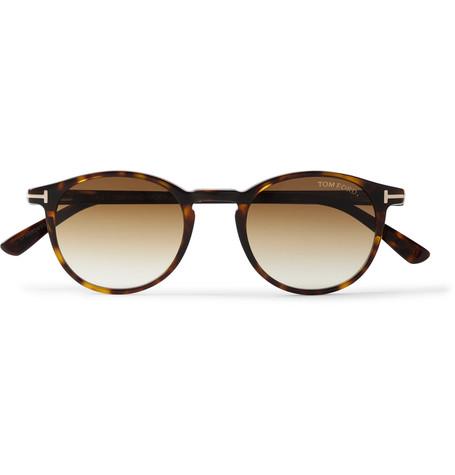TOM FORD - Round-Frame Tortoiseshell Acetate Sunglasses - Men - Brown