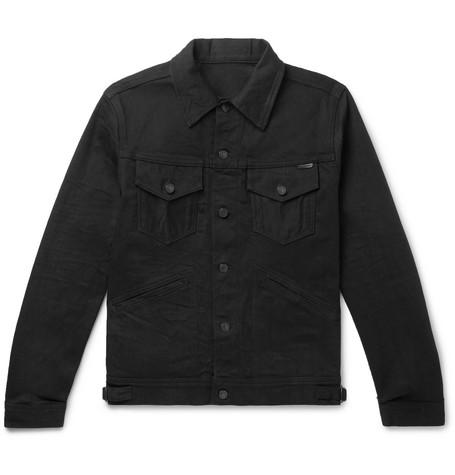 TOM FORD - Slim-Fit Selvedge Denim Jacket - Men - Black