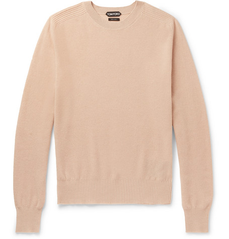 TOM FORD - Waffle-Knit Cashmere Sweater - Men - Neutral