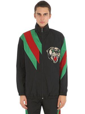 Tech Nylon Jacket W/ Patch & Web Details