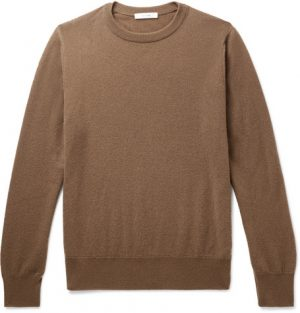 The Row - Benji Slim-Fit Cashmere Sweater - Men - Camel