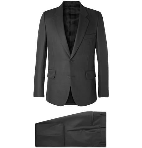 The Row - Dark-Grey David Slim-Fit Virgin Wool and Mohair-Blend Gabardine Suit - Men - Gray