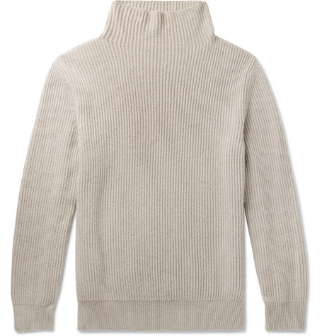 The Row - Jackson Ribbed Cashmere Rollneck Sweater - Men - Cream