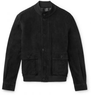 The Row - James Suede Bomber Jacket - Men - Dark gray