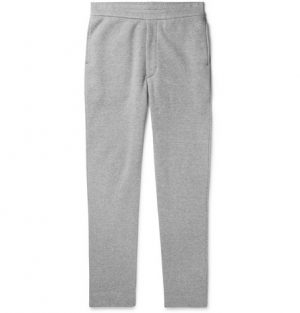 The Row - LA Slim-Fit Fleece-Back Cotton-Jersey Sweatpants - Men - Gray