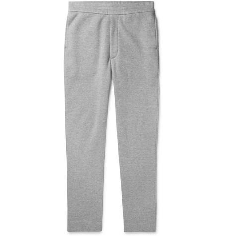 The Row - LA Slim-Fit Fleece-Back Cotton-Jersey Sweatpants - Men - Gray