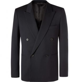 The Row - Navy Julian Slim-Fit Double-Breasted Virgin Wool Blazer - Men - Navy