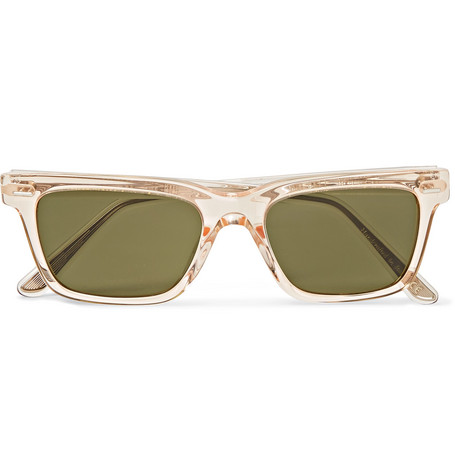 The Row - Oliver Peoples BA CC Square-Frame Acetate Sunglasses - Men - Clear