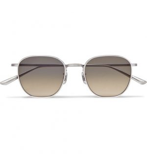 The Row - Oliver Peoples Board Meeting 2 Silver-Tone Titanium Polarised Sunglasses - Men - Silver