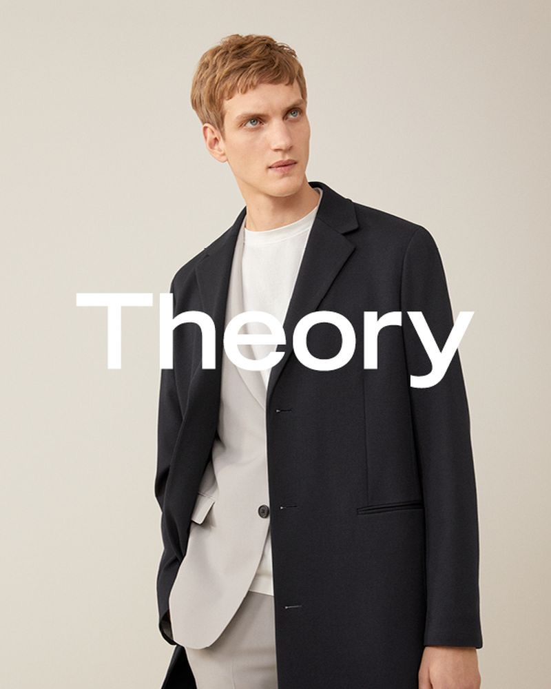 Paul Boche fronts Theory's spring-summer 2019 men's campaign.