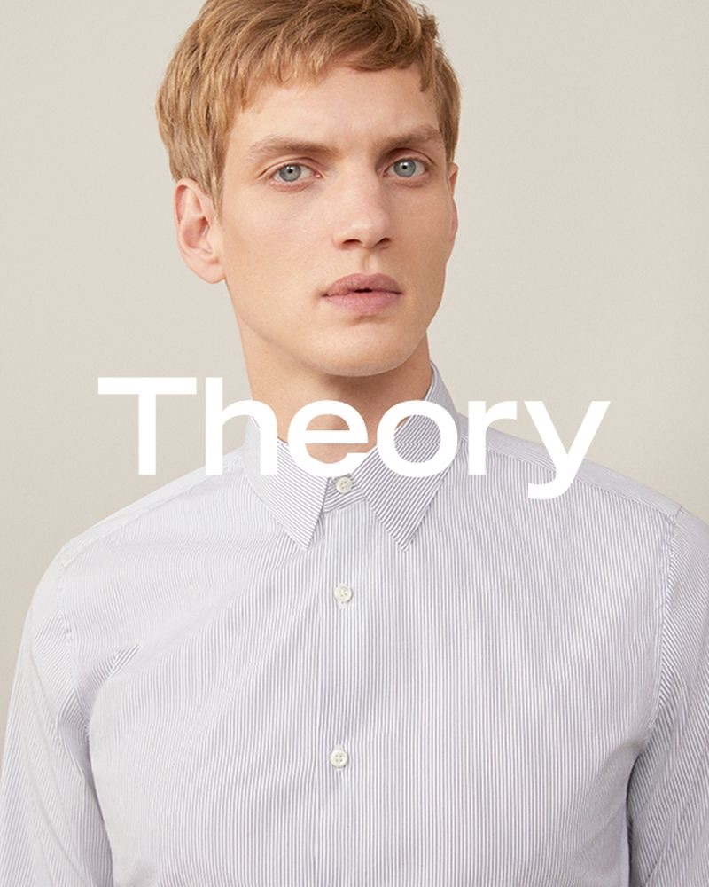 German model Paul Boche fronts Theory's spring-summer 2019 campaign.