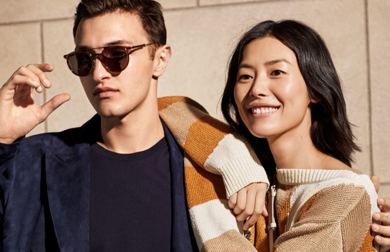 "Models Anwar Hadid and Liu Wen come together ""Backstage"" for Tod's spring-summer 2019 campaign."