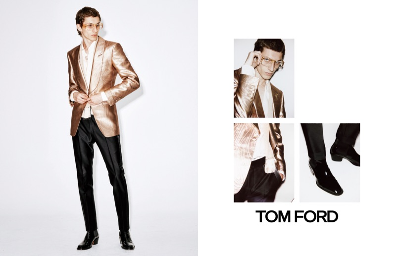 Henry Kitcher fronts Tom Ford's spring-summer 2019 campaign.