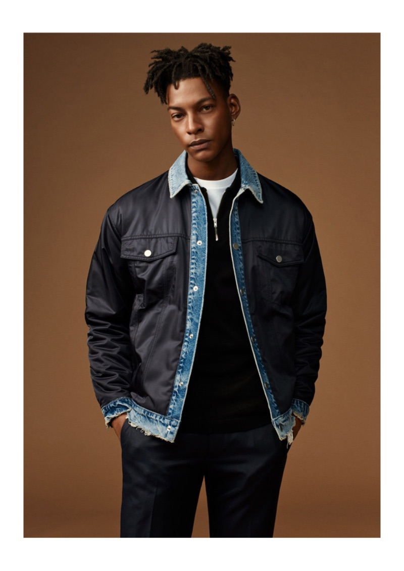 Layering, Ty Ogunkoya is front and center for Topman's spring 2019 campaign.