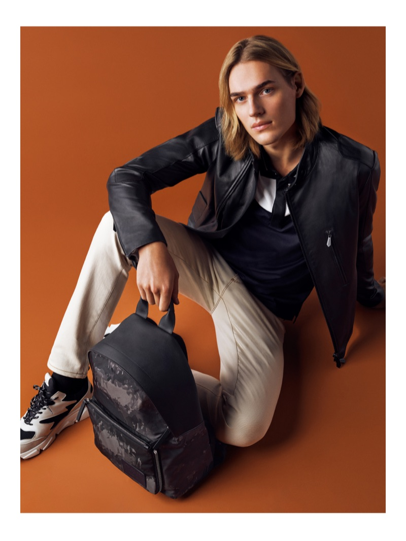Ton Heukels stars in Trussardi's spring-summer 2019 campaign.