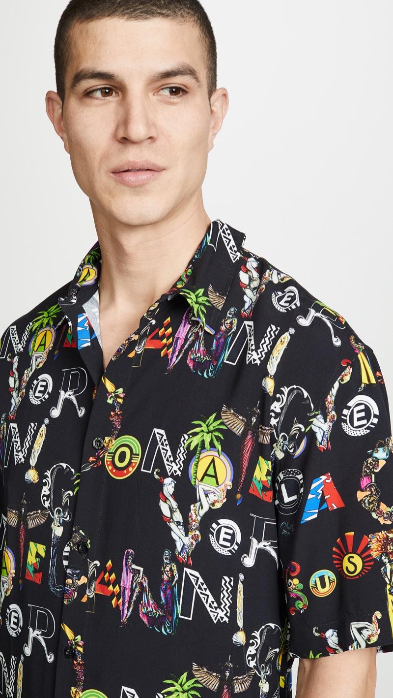Versus Versace Printed Shirt Black