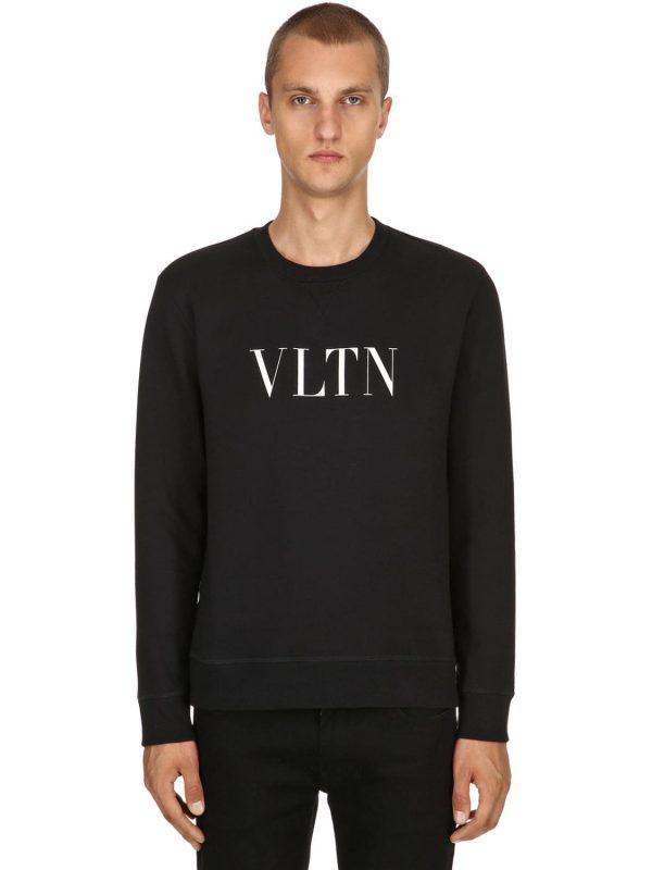 Vltn Printed Cotton Jersey Sweatshirt