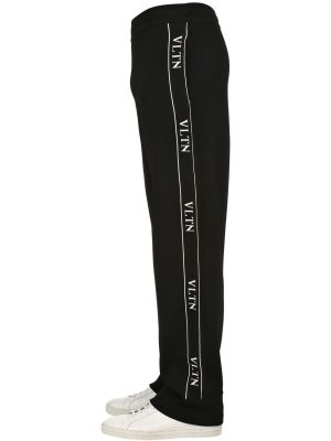 Vltn Viscose Blend Knit Track Pants