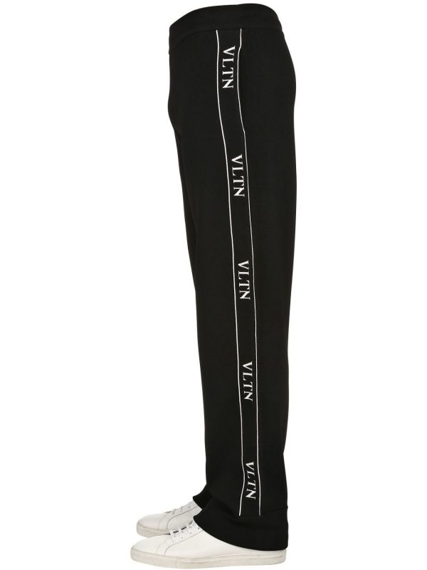 Vltn Viscose Blend Knit Track Pants