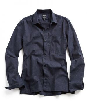 Weathered Speckle Shirt Jacket in Navy