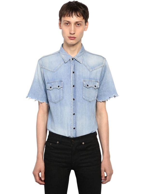 Western Style Cotton Denim Shirt