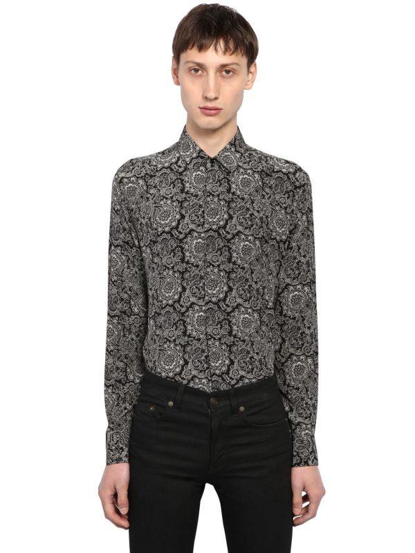 Yves Bandana Printed Silk Shirt