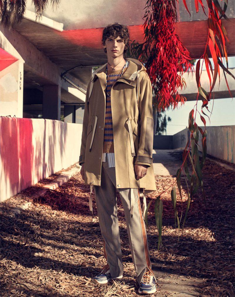 Erik Van Gils stars in Zara Man's spring 2019 campaign.