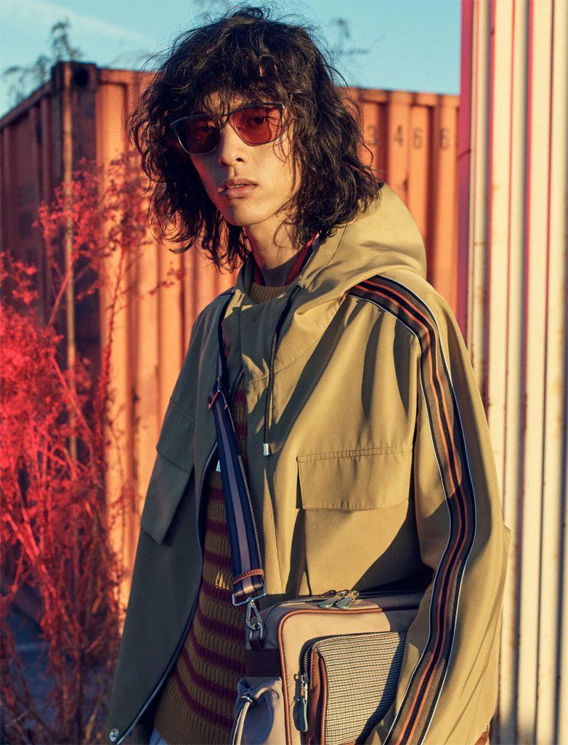 David Yang appears in Zara Man's spring 2019 campaign.