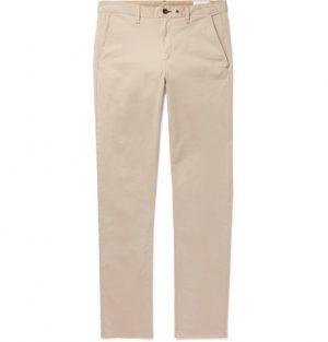 rag & bone - Fit 2 Slim-Fit Garment-Dyed Cotton-Blend Twill Chinos - Men - Beige