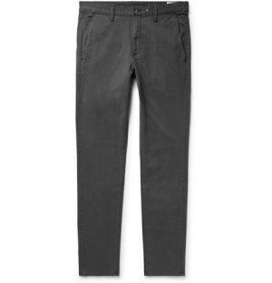 rag & bone - Fit 2 Slim-Fit Garment-Dyed Cotton-Twill Chinos - Men - Charcoal
