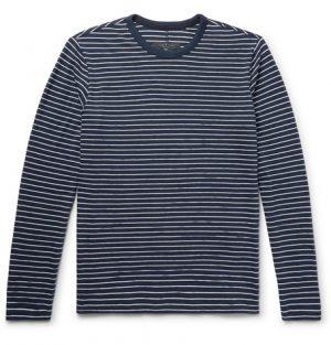 rag & bone - Striped Cotton-Blend T-Shirt - Men - Storm blue